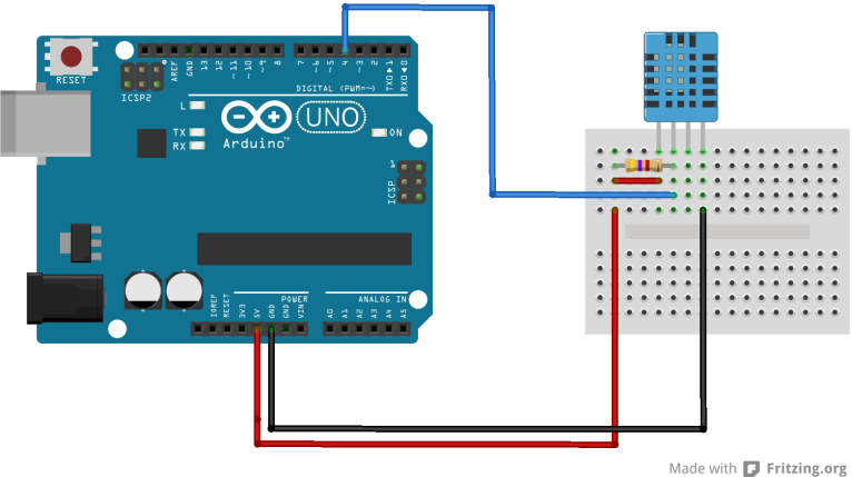 Dht11 Sensor Example Arduino Learning