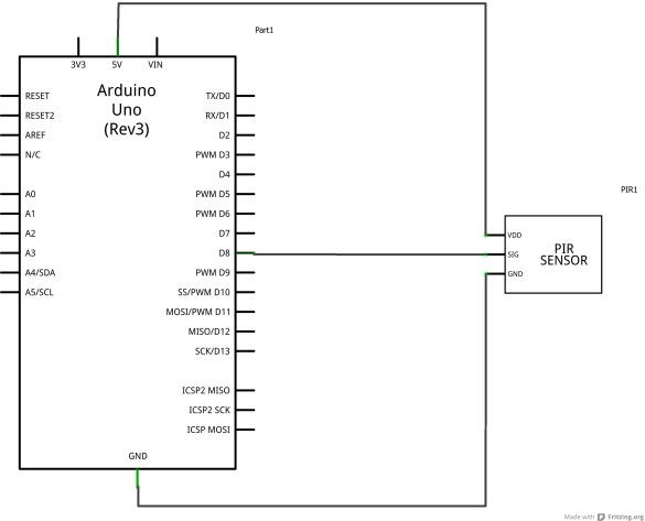 Pir Sensor Example Arduino Learning