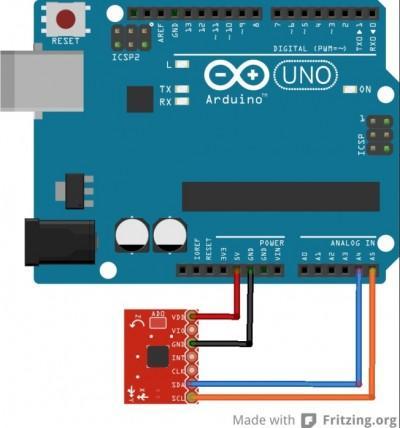 bildr Tap, Tap, Drop ADXL345 Accelerometer Arduino