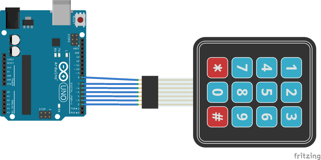 arduino and keypad layout