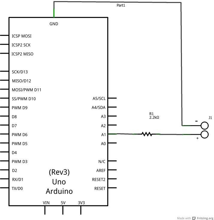 arduino voltmeter schematic
