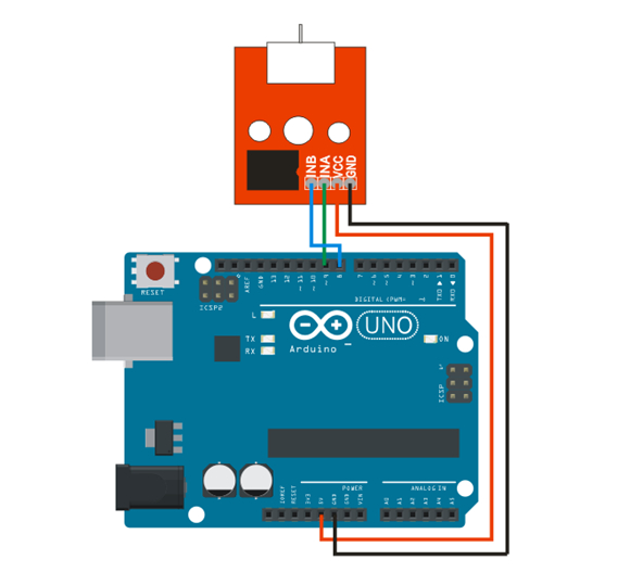 arduino and l9110 fan module example