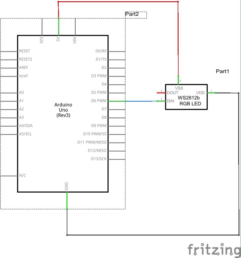 Arduino and WS2812_schem