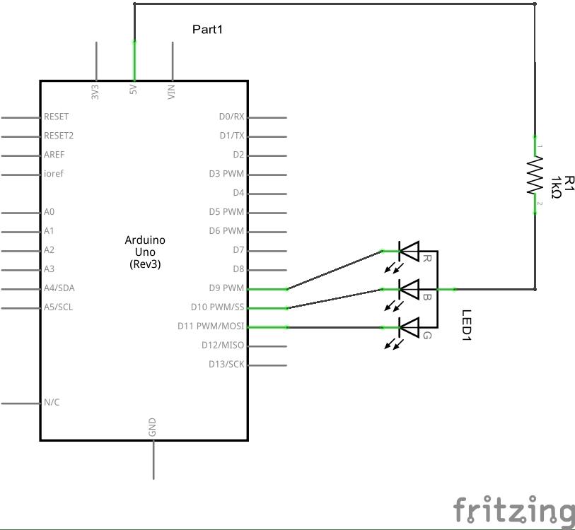 Arduino RGB schematic