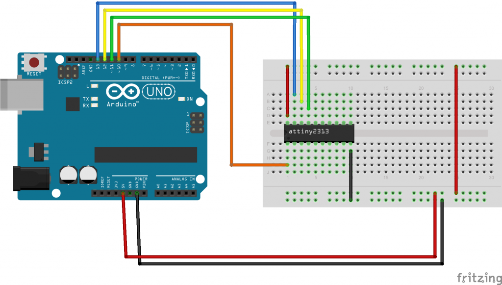 Program an attiny2313 with an Arduino - Arduino Learning