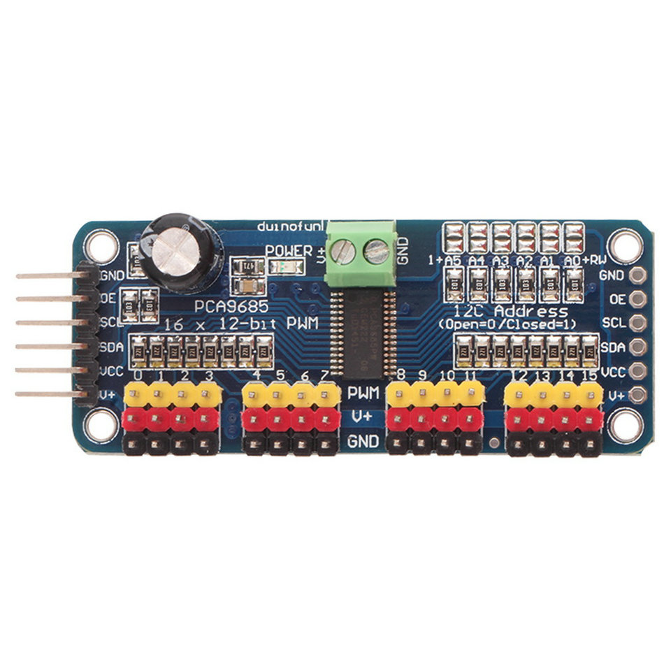 Arduino PCA9685 example - Arduino Learning