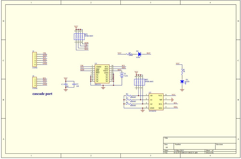 DS3231 schematic
