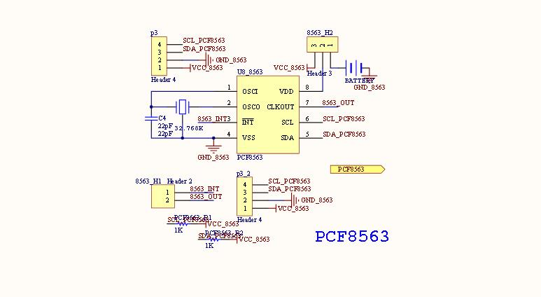 pcf8563 schematic