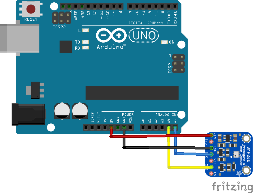 arduino and bmp280