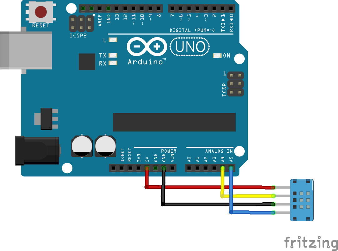 arduino and dht12