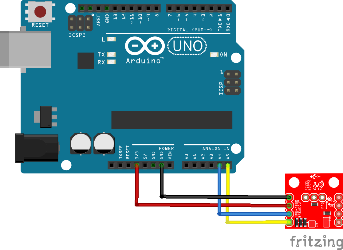 arduino and mpu-6500