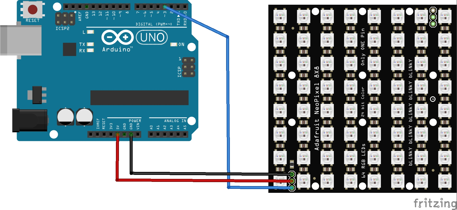 neomatrix and arduino