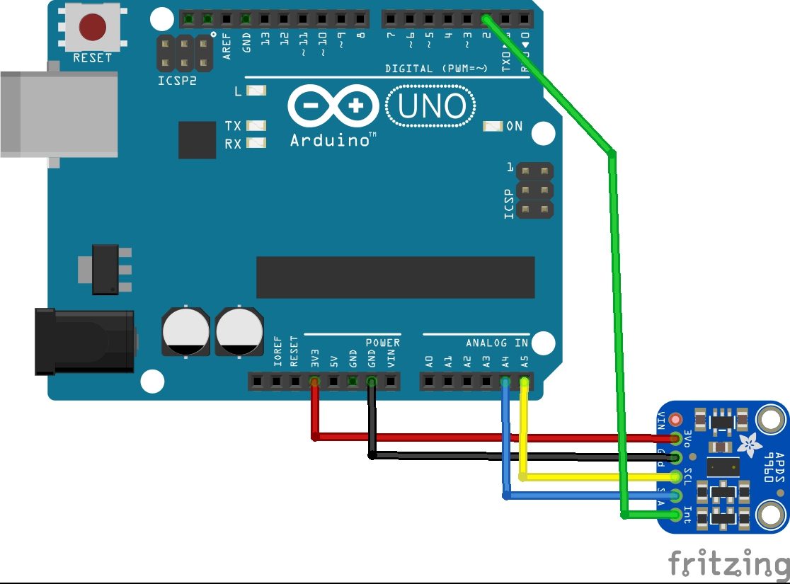 Arduino and APDS-9960