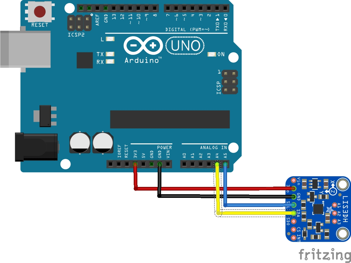 Arduino and LIS3DSH