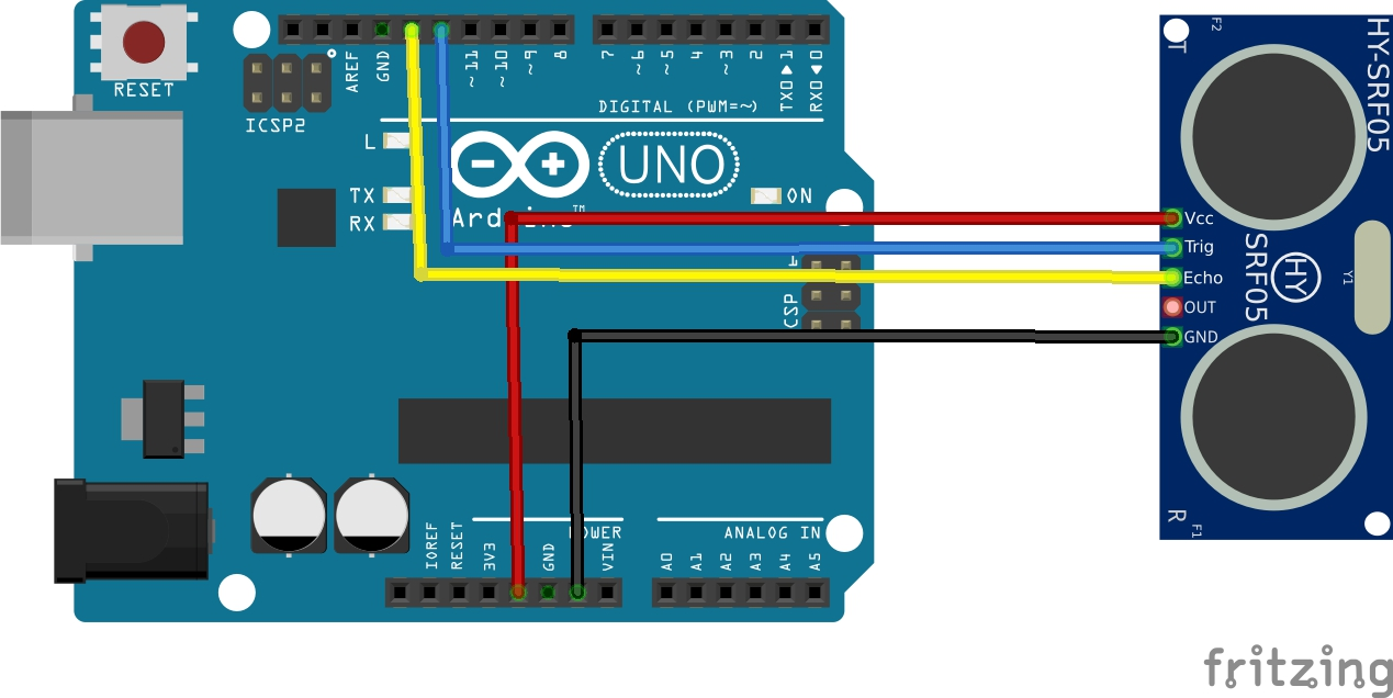arduino and HY-SRF05