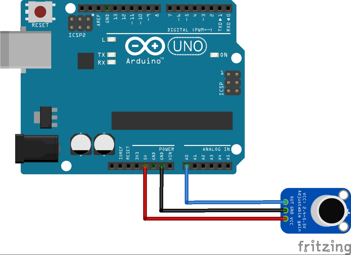 arduino and max4466