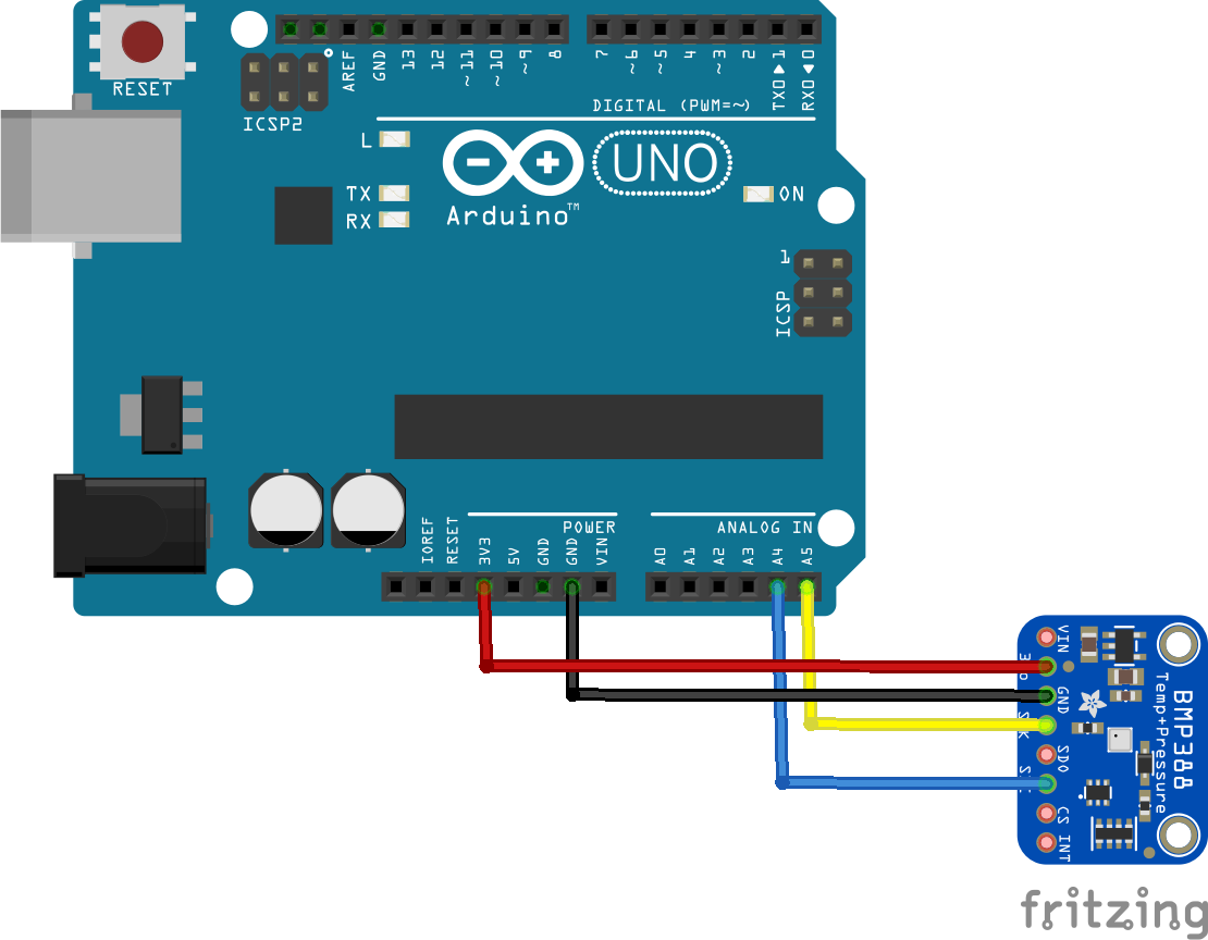 arduino and bmp388 layout