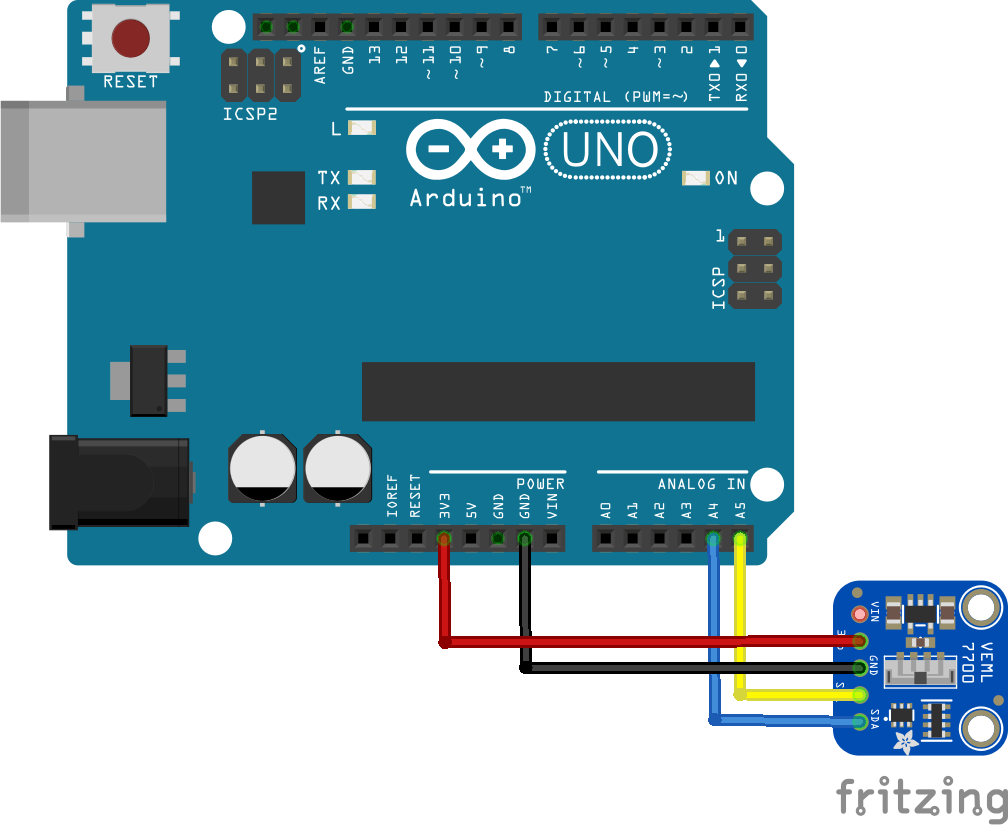 Arduino and veml7700