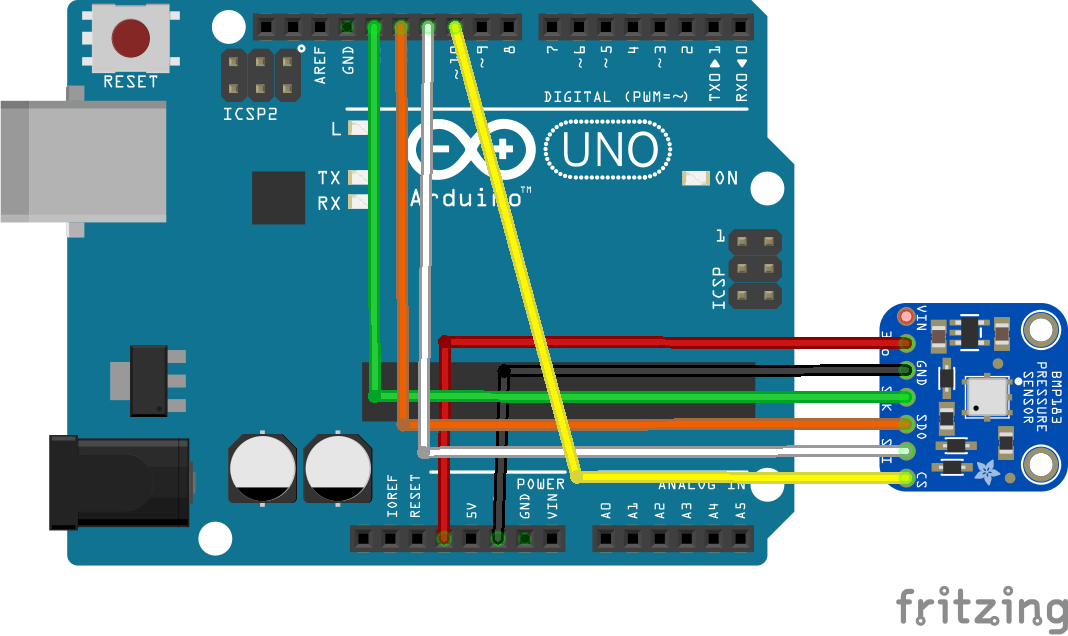 arduino and bmp183
