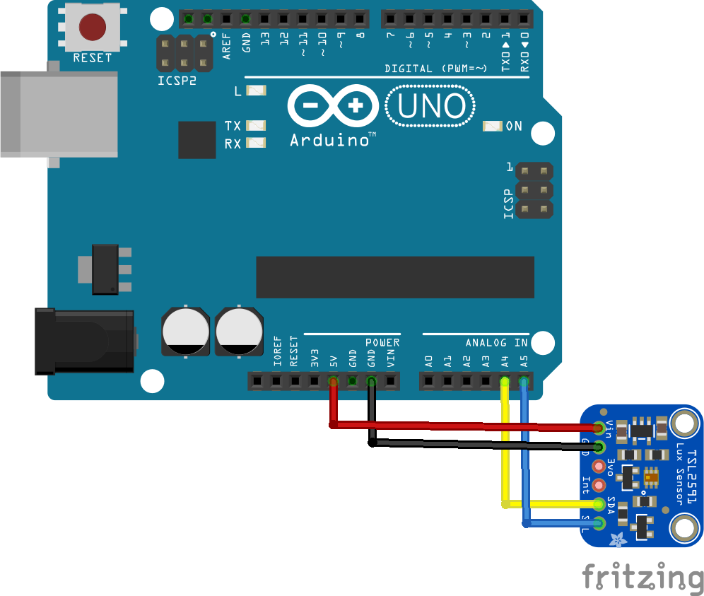 arduino and tsl2591