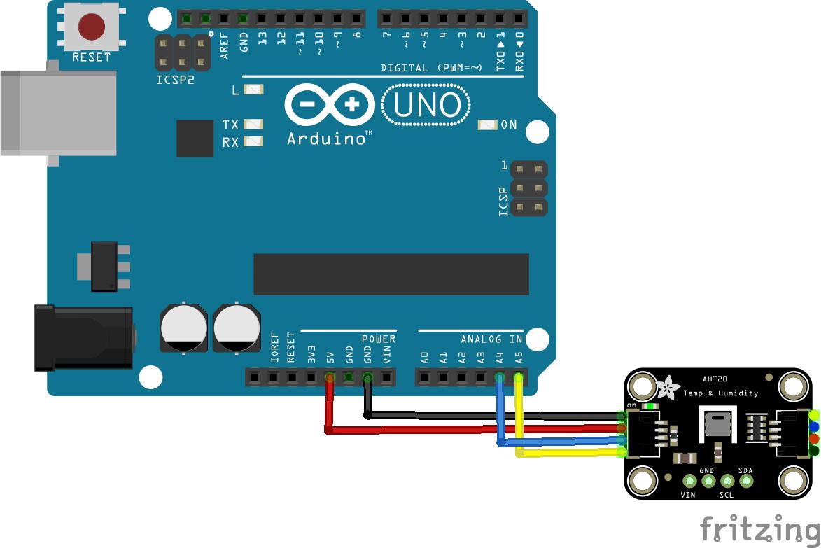 arduino and AHT20