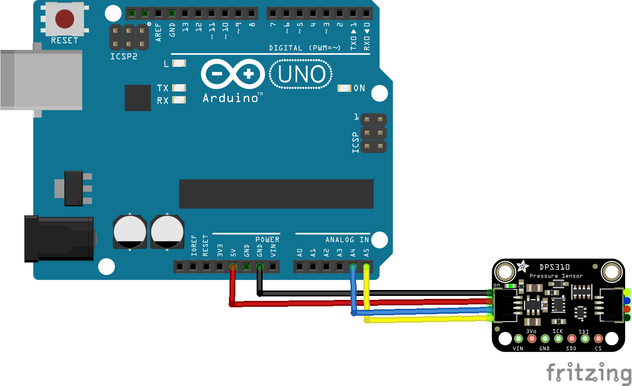 arduino and DPS310