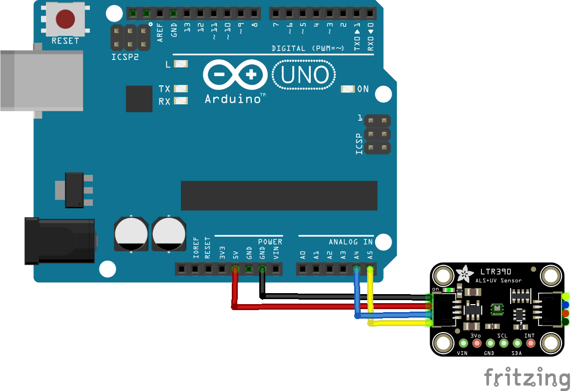 arduino and LTR390