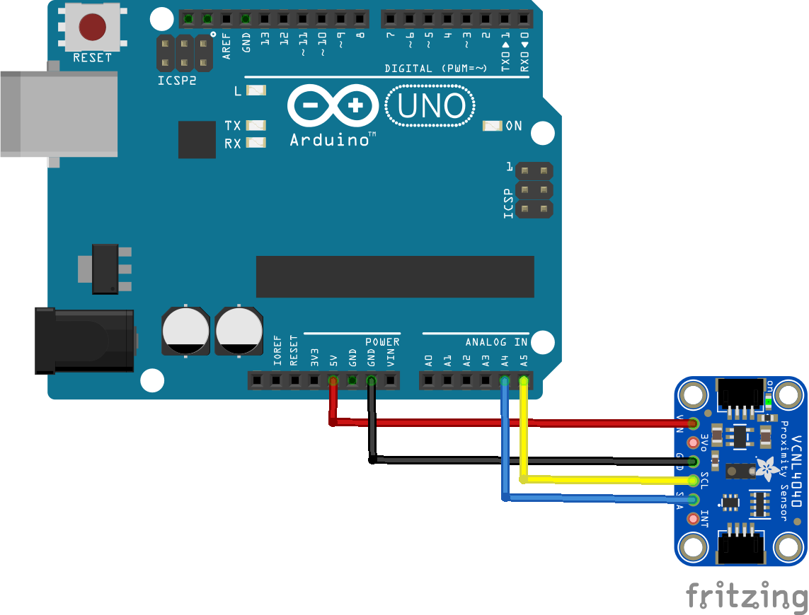 arduino and VCNL4040